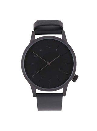 Ceas barbatesc negru cu curea din piele naturala -  Komono Winston Regal