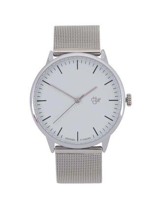 Unisex hodinky v striebornej farbe CHPO Nando Silver