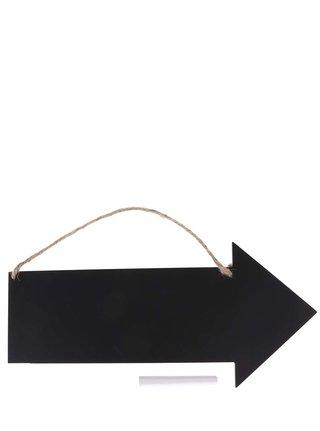 Čierna závesná tabuľa v tvare šípky Sass & Belle Arrow