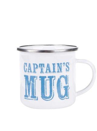 Biely plechový hrnček Sass & Belle Captain's Mug