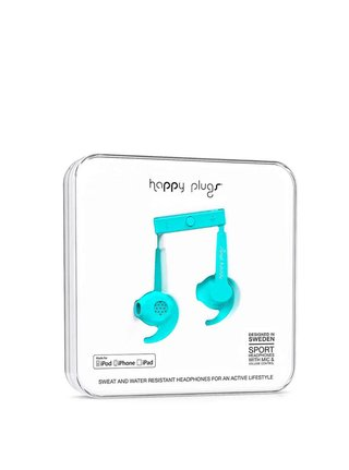 Casti sport bleu Happy Plugs