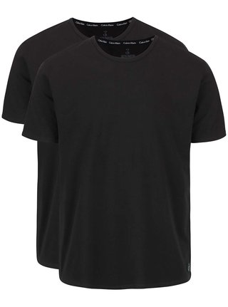 Set de doua tricouri basic negre - Calvin Klein