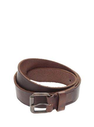 Tmavě hnědý kožený pásek Jack & Jones Jakob