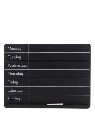 Čierna týždenná plánovacia tabuľa Saas & Belle Weekly