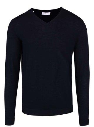 Tmavomodrý sveter z Merino vlny Selected Homme Tower