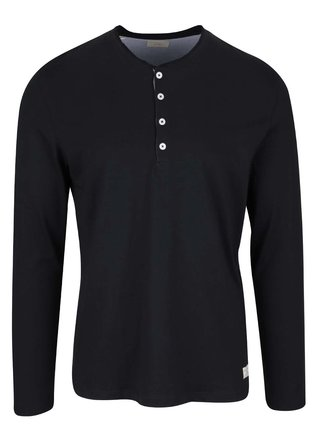 Černé tričko s dlouhým rukávem Selected Homme Niklas