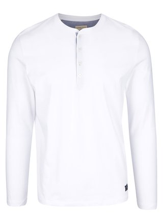 Biele tričko s dlhým rukávom Selected Homme Niklas