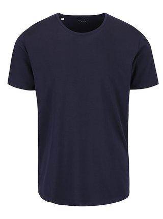 Tmavě modré basic tričko Selected Homme Pima