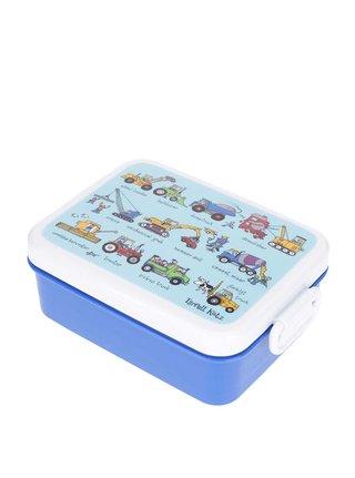 Modrý chlapčenský desiatový box Tyrrell Katz Working Wheels