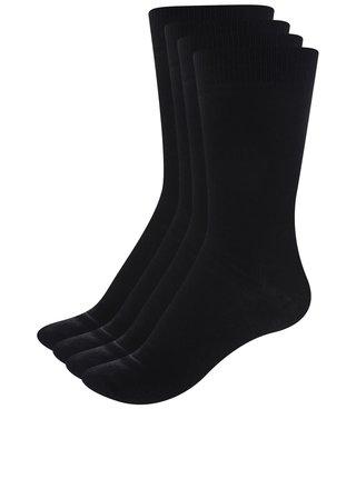 Súprava štyroch párov ponožiek čiernej farbe ONLY & SONS Niko