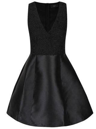 Čierne šaty s čipkou AX Paris