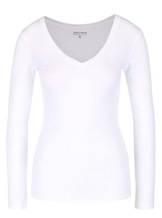 Biele basic tričko s dlhým rukávom TALLY WEiJL