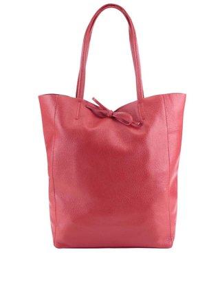 Geanta rosie din piele - ZOOT Simple
