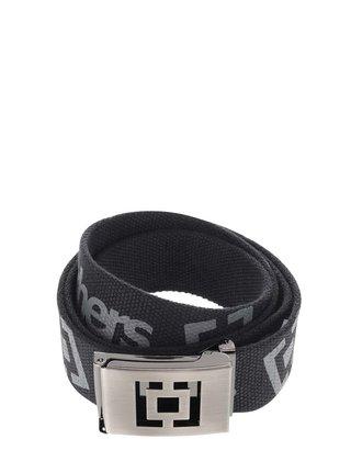 Černý pánský pásek s šedým potiskem Horsefeathers Icon