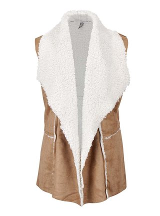 Vesta maro cu blana ecologica - Madonna