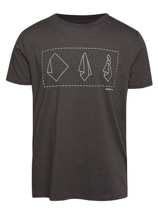 """""""Dobré"""" šedé pánské tričko s potiskem Mamma HELP"""