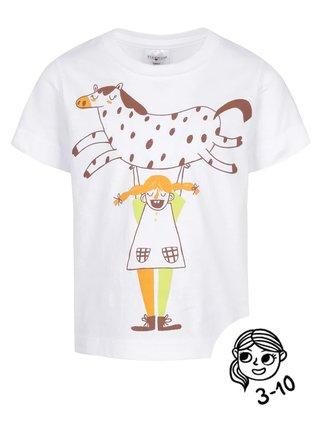 Biele dievčenské tričko ZOOT Kids - Pipi