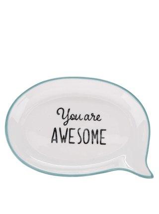 Suport crem din ceramica pentru bijuterii Sass & Belle You Are Awesome