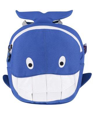 Bílo-modrý batoh ve tvaru velryby Affenzahn