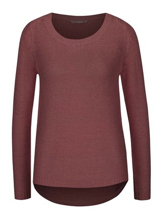 Hnedofialový sveter ONLY Geena