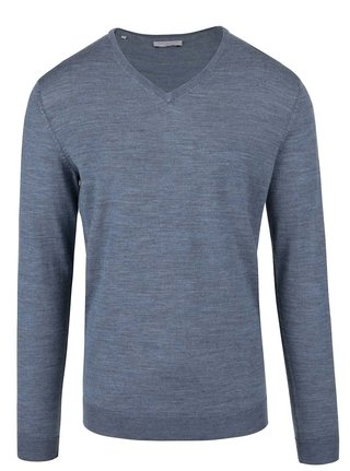 Pulover albastru din lana merino -  Selected Homme Tower