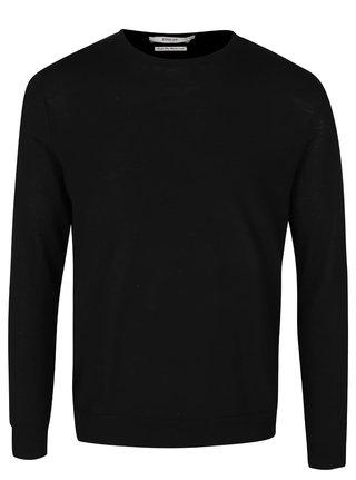Pulover negru din lana Merino Jack & Jones Premium Mark