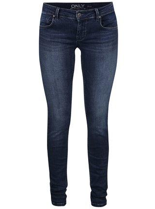 Jeansi skinny bleumarin cu aspect usor prespalat ONLY Dylan
