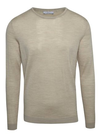 Pulover bej din lana Merino - Selected Homme Tower