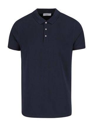 Tricou albastru inchis Selected Homme Damon