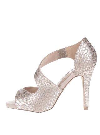 Sandale argintii Miss KG cu calcai acoperit