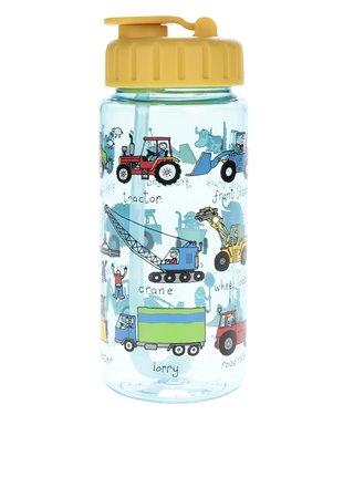 Modro-žltá chlapčenská fľaša na pitie Tyrrel Katz Working Wheels