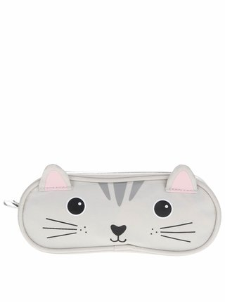 Sivý peračník v tvare mačky Sass & Belle Nori Cat
