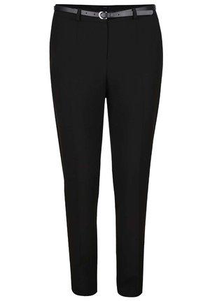 Pantaloni negri M&Co cu curea subtire