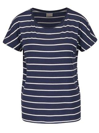 Tmavomodré pruhované basic tričko VERO MODA Charly