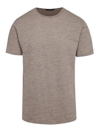 Béžové žíhané basic tričko ONLY & SONS Albert