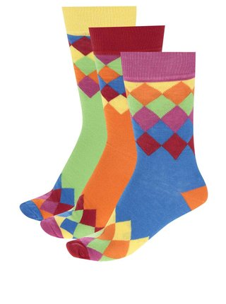 Set multicolor unisex cu 3 sosete Oddsocks Charlie