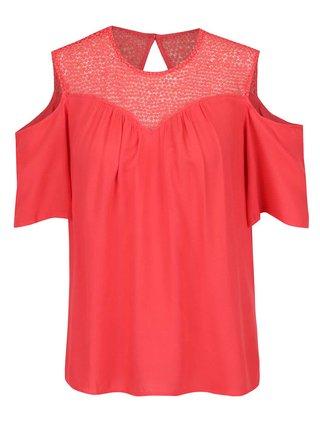 Bluza rosie VERO MODA Lulu cold shoulder
