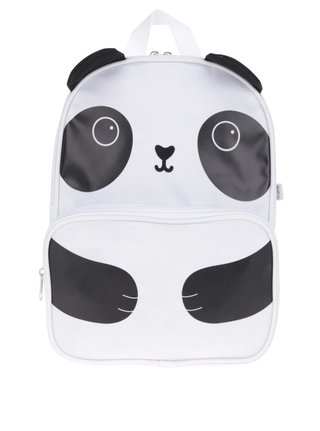 Čierno-biely batoh s motívom pandy Sass & Belle