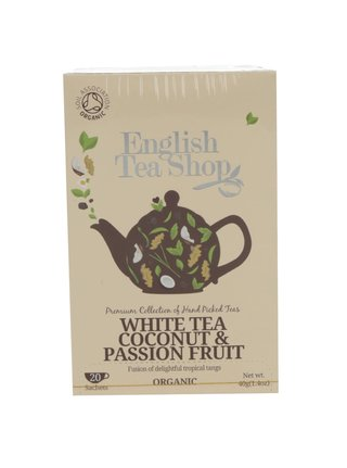 Ceai alb bio cu cocos si fructul pasiunii English Tea Shop Coconut Bio