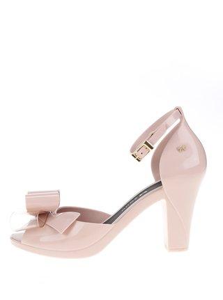 Pantofi roz peep-toe Zaxy cu fundita