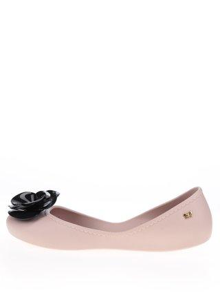 Ružové baleríny s čiernym kvetom Zaxy