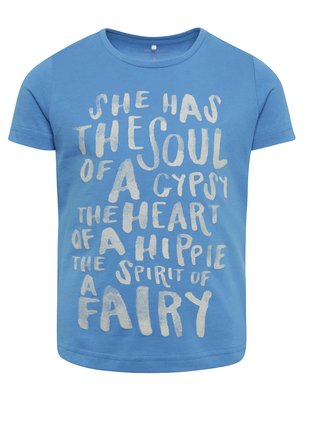 864db21c5 Modré dievčenské tričko s potlačou name it Kira