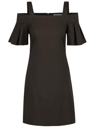 Khaki šaty s odhalenými ramenami Closet