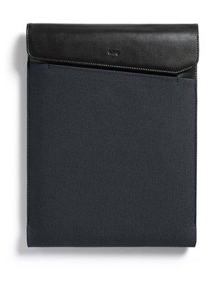"""Čierno-sivý obal na notebook s koženými detailmi Bellroy Laptop Sleeve 13"""""""