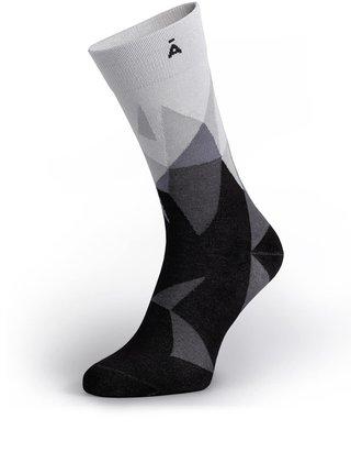 Sosete gri & negru cu print pentru barbati - V páru