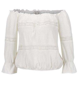 fe0a8d597a0c Krémové tričko s lodičkovým výstrihom Miss Selfridge