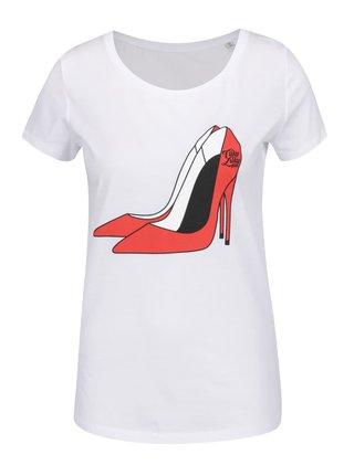 Bílé dámské tričko s potiskem lodiček Cuky Luky film