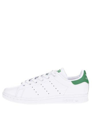 Pantofi sport albi adidas Originals Stan Smith cu detalii verzi