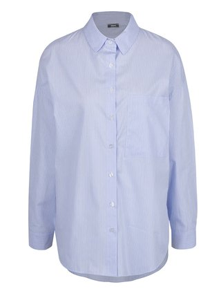 Svetlomodrá pruhovaná voľná košeľa ZOOT