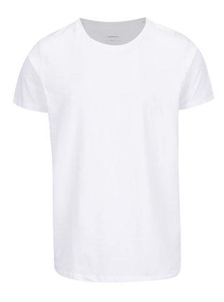 Bílé basic tričko s krátkým rukávem Lindbergh